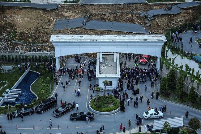 Başakşehir Kayabaşı Kayaşehir Bulvar İstanbul Bahçetepe'de çöken duvar